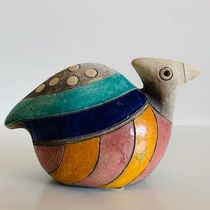 RAKU South African Pottery Rare Bird Figurine